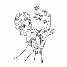 Coloriages La reine des neiges