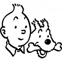 Coloriages Tintin