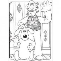 Coloriages Wallace et Gromit