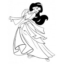 Coloriage Jasmine danse