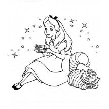 Coloriage Alice et le Chafouin