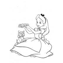 Coloriage Alice et Dinah