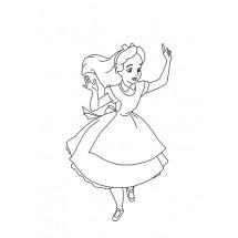 Coloriage Alice #2