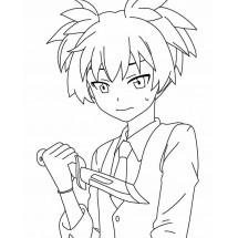 Coloriage Nagisa Shiota #3