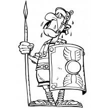 Coloriage Un romain