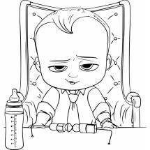 Coloriage Baby Boss au bureau