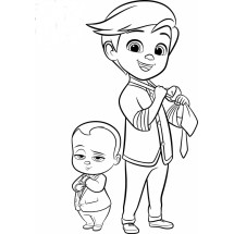 Coloriage Baby Boss et Tim