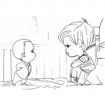 Coloriage Baby Boss et Tim #2