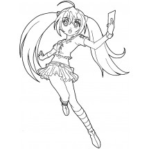 Coloriage Runo Misaki
