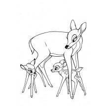 Coloriage Bambi et sa maman