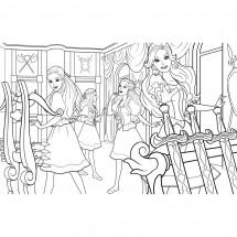 Coloriage Barbie et ses copines #2