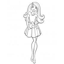 Coloriage Barbie en robe