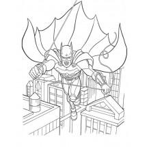 Coloriage Batman dans Gotham City