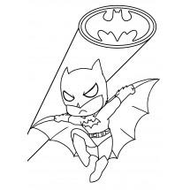 Coloriage Batman Kawaii