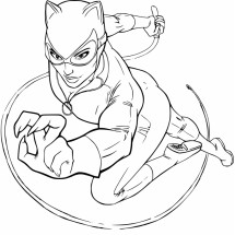 Coloriage Catwoman