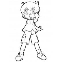 Coloriage Kenta #3