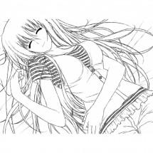 Coloriage Orihime Inoue #3