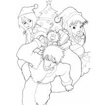Coloriage Ichigo, Rukia et Orihime