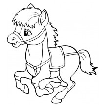 Coloriage Petit poney mignon