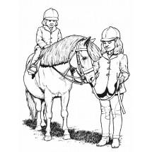 Coloriage Cheval et sa cavalière