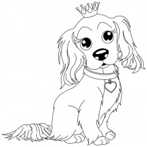 Coloriage Chien avec une couronne