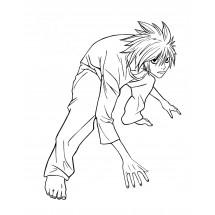 Coloriage L de Death Note