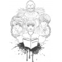 Coloriage Les personnages principaux de Death Note