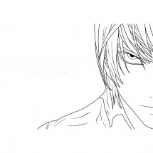 Coloriage Visage de Yagami Ligth