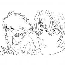 Coloriage Yagami Light et L