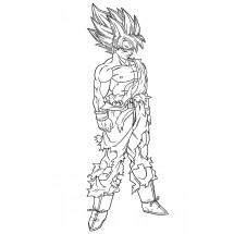 Coloriage Son Goku Super Saiyan
