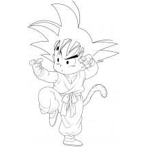 Coloriage Son Goku Jeune