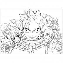 Coloriage Quelques personnages de Fairy Tail