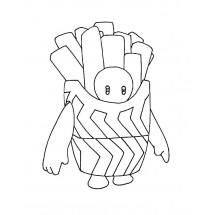 Coloriage Fall Guys Frite