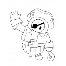 Coloriage Fall Guys Pirate #2