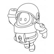 Coloriage Fall Guys Astronaute