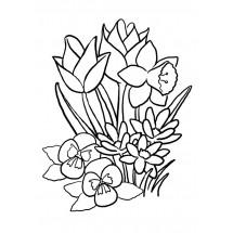 Coloriage Parterre de fleurs