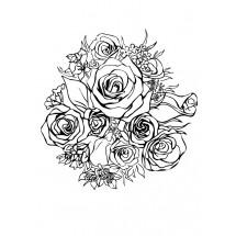 Coloriage Bouquet de roses