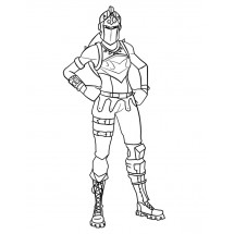 Coloriage Fortnite Chevaleresse Rouge