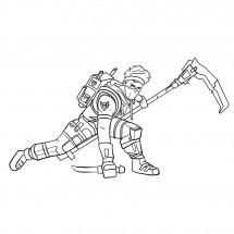 Coloriage Fortnite Ninja