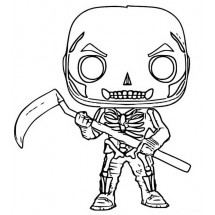 Coloriage Fortnite Soldat au crâne figurine Pop