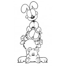 Coloriage Garfield et Odie