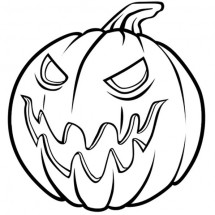Coloriage Une citrouille pour Halloween
