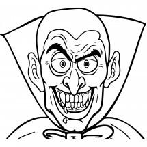 Coloriage Un vampire moins mignon
