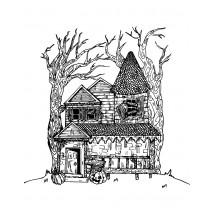 Coloriage Une maison hantée