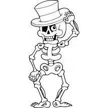 Coloriage Squelette espiègle