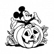 Coloriage Mickey fête Halloween