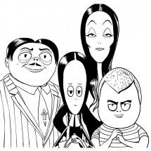 Coloriage La famille Adams