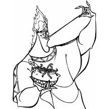 Coloriage Hadès mange des vers