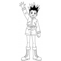 Coloriage Gon Freecss