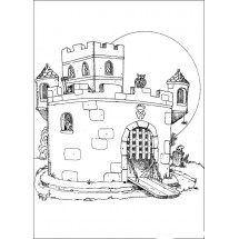 Coloriage Le château du docteur Gang